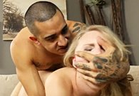Arab guy fucks hard with slim blonde girl