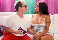 Latin MILF Gabby Quinteros Gets Her Bushy Box Banged On Couch!