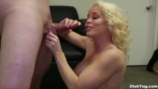 ClubTug – Horny milf jerks off a young dude